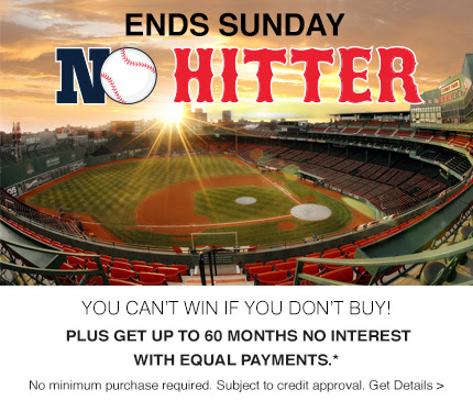 You can't win if you don't buy!  Plus get up to 60 months no interest with equal payments.* No minimum purchase required. Subject to credit approval. Get Details.
