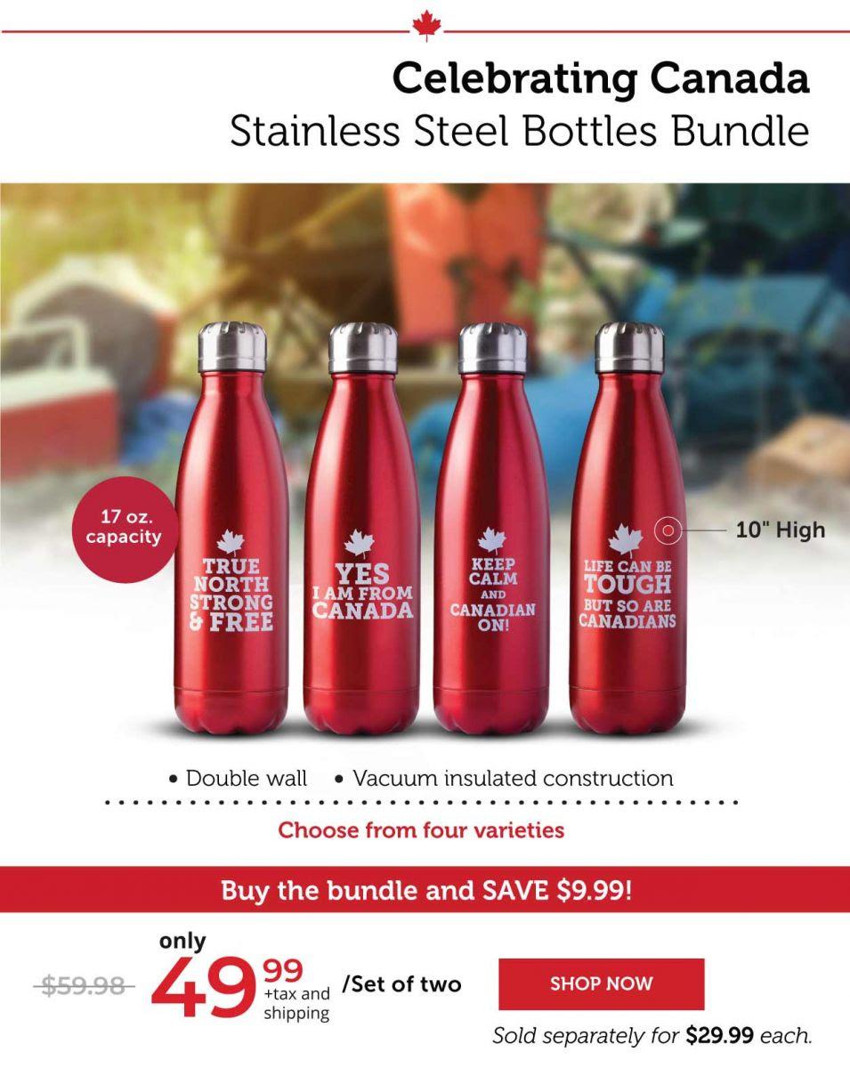Celebrating Canada stainless Steel Bottles Bundle