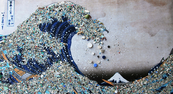 Art by Bonnie Monteleone Depicting Plastic Pollution in th Ocean