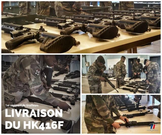 Comptage contradictoire et relevé des numéros de série des 3000 armes et accessoires perçus par le 1er RTir (Crédit: armée de Terre/1er RTir)