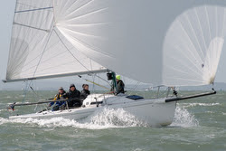J/80 sailing Warsash Springs on Solent