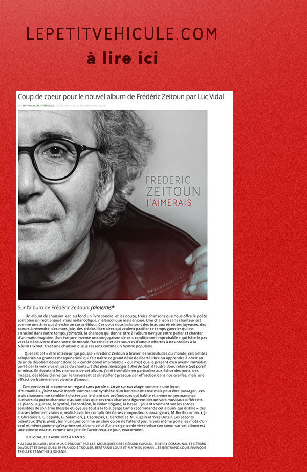 Article Le Petit Véhicule