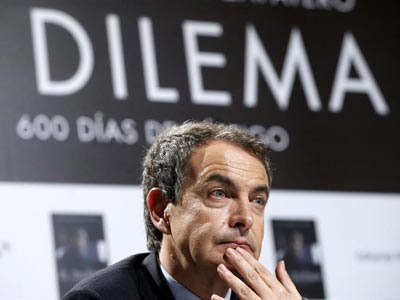 José Luis Rodríguez Zapatero durante la presentación de su libro.