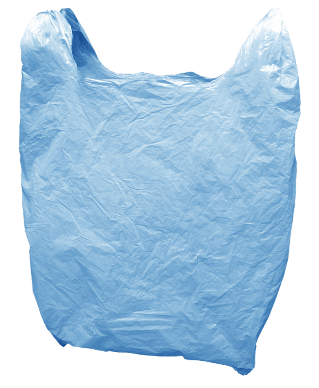 Plastic bags don't belong in your blue bin.