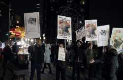 Χιλιάδες διαδηλωτές διαμαρτυρήθηκαν στη Νέα Υόρκη κατά του Τραμπ