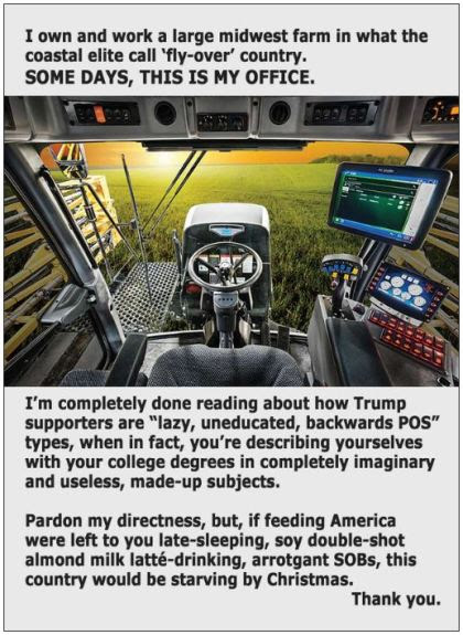inside a tractor farmer