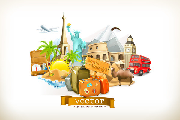 Travel vector illustration