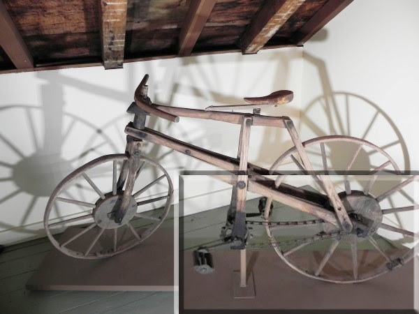 Wooden bicycle (insert: