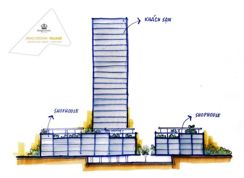 mô hình Shophouse King Crown Village Thảo điền quận 2