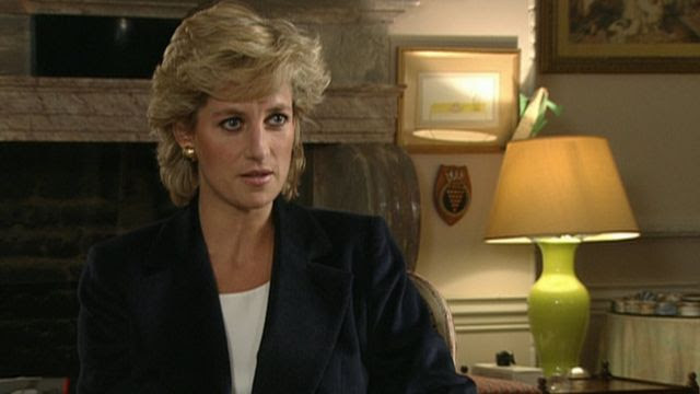 A still image from Princess Diana's Panorama interview