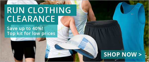 Clearance Sale Up to 40% OFF Run Clothing + 30% OFF Run Footwear at Wiggle.com.au
