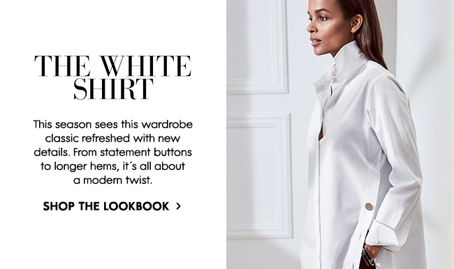 This season the white shirt is refreshed with new details.