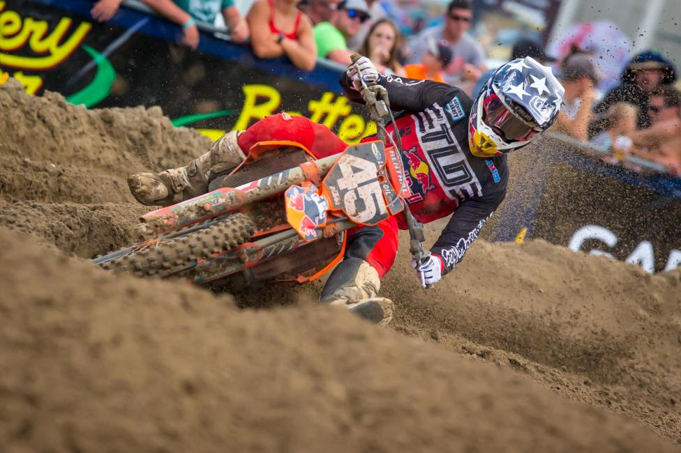 Jordon Smith used a third in Moto 1 to finish fourth overall on the day (3-7).