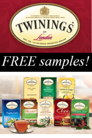 FREE teas from Twinings...