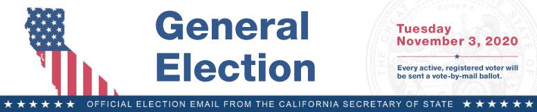 2020 General Election Banner - VBM Message