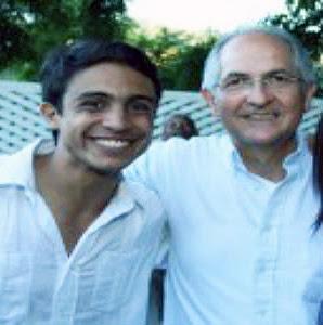 Antonio Ledezma (derecha) y Lorent Gómez Saleh