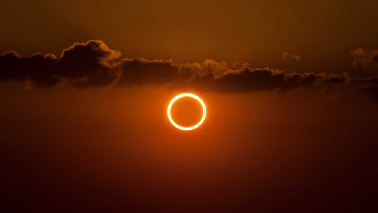 A photo of a solar eclipse