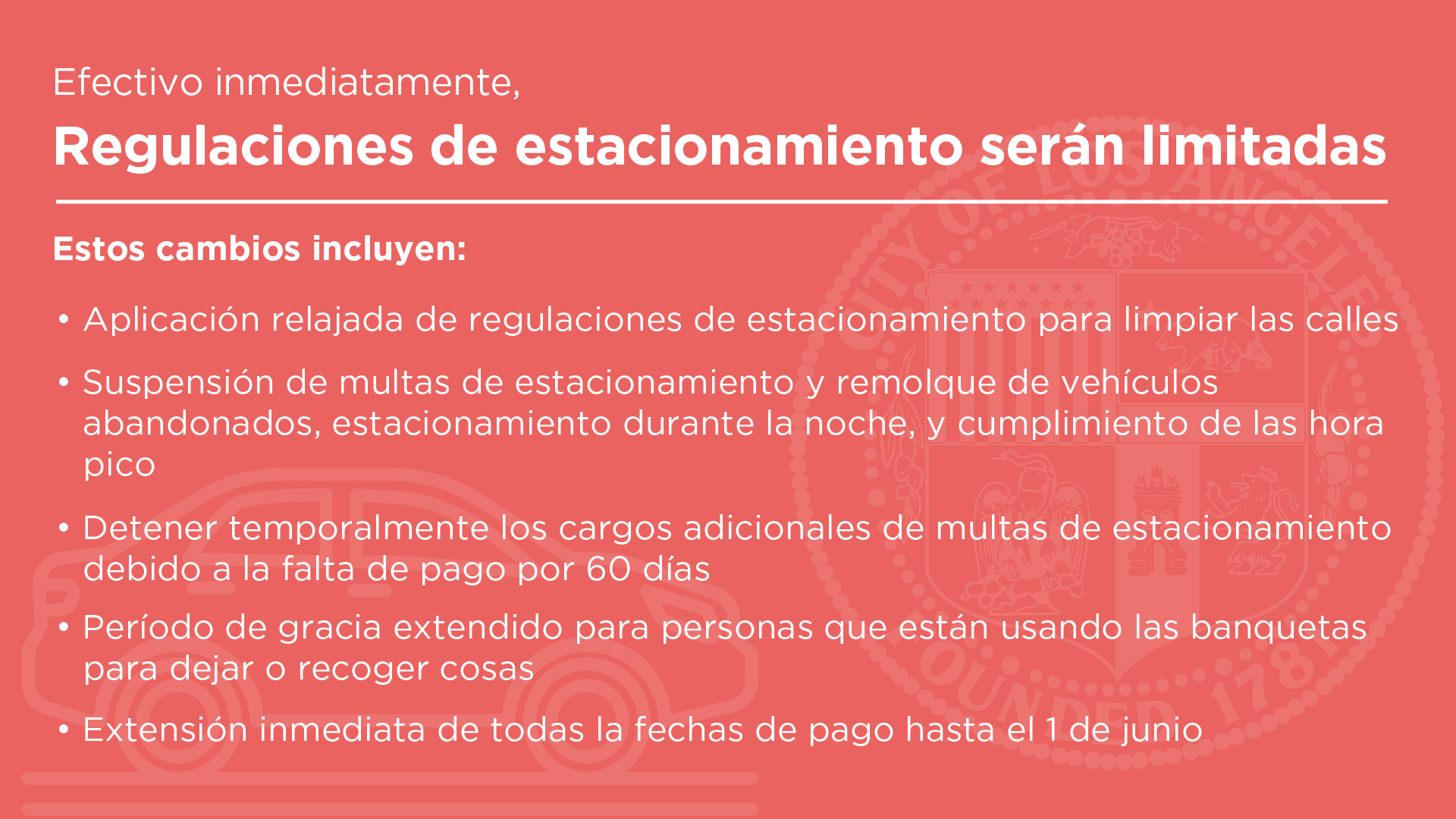 Parking restrictions in Spanish