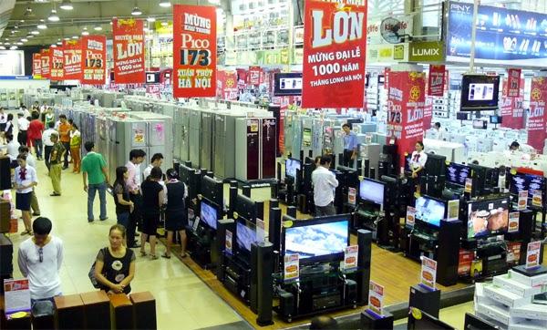 Trung-tâm-thương-mại, siêu-thị-điện-máy, kinh-doanh, bán-lẻ, điện-máy, khuyến-mãi, giảm-giá, cạnh-tranh, Topcare, phá-sản