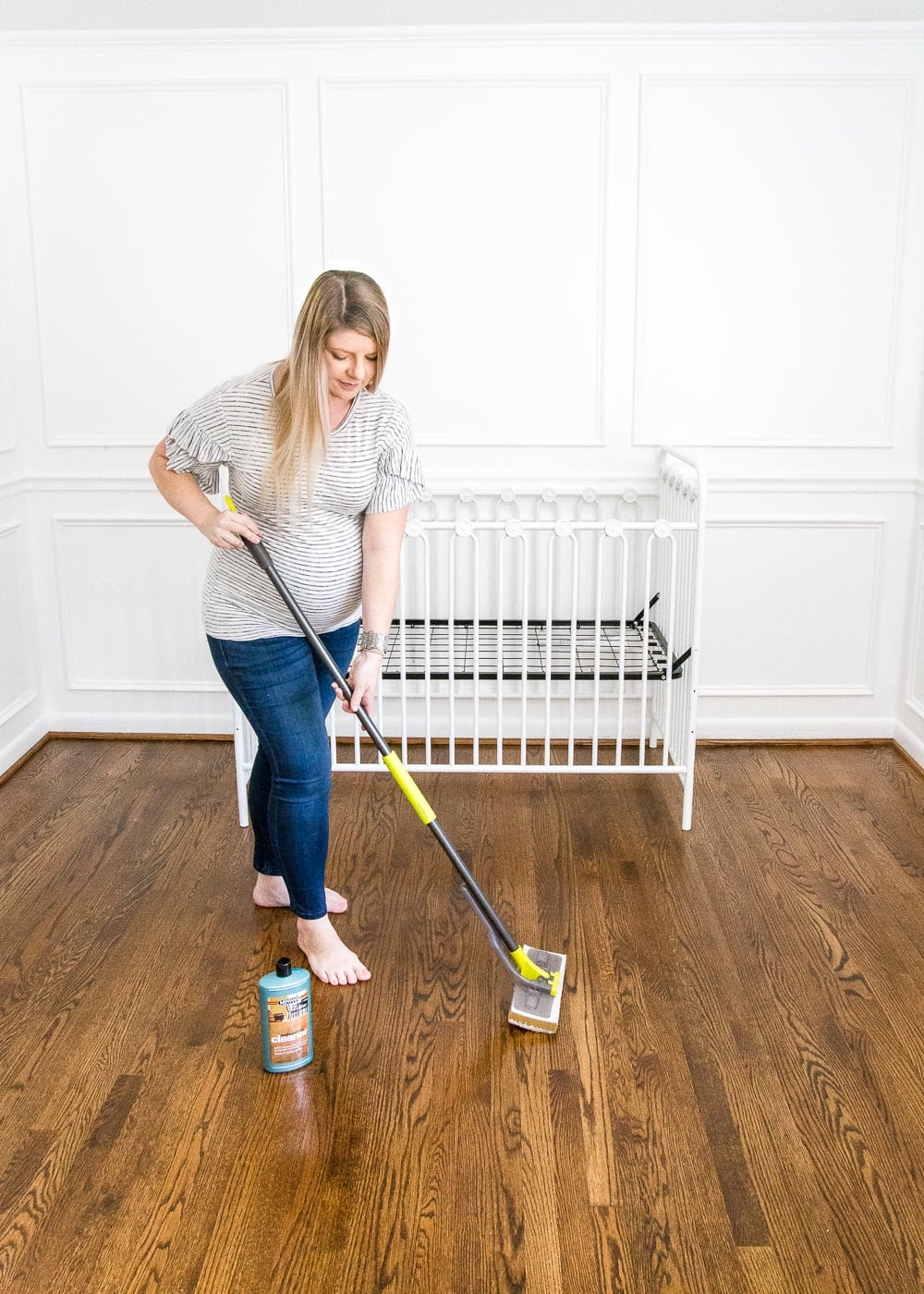 The best solution for cleaning refinished hardwood floors