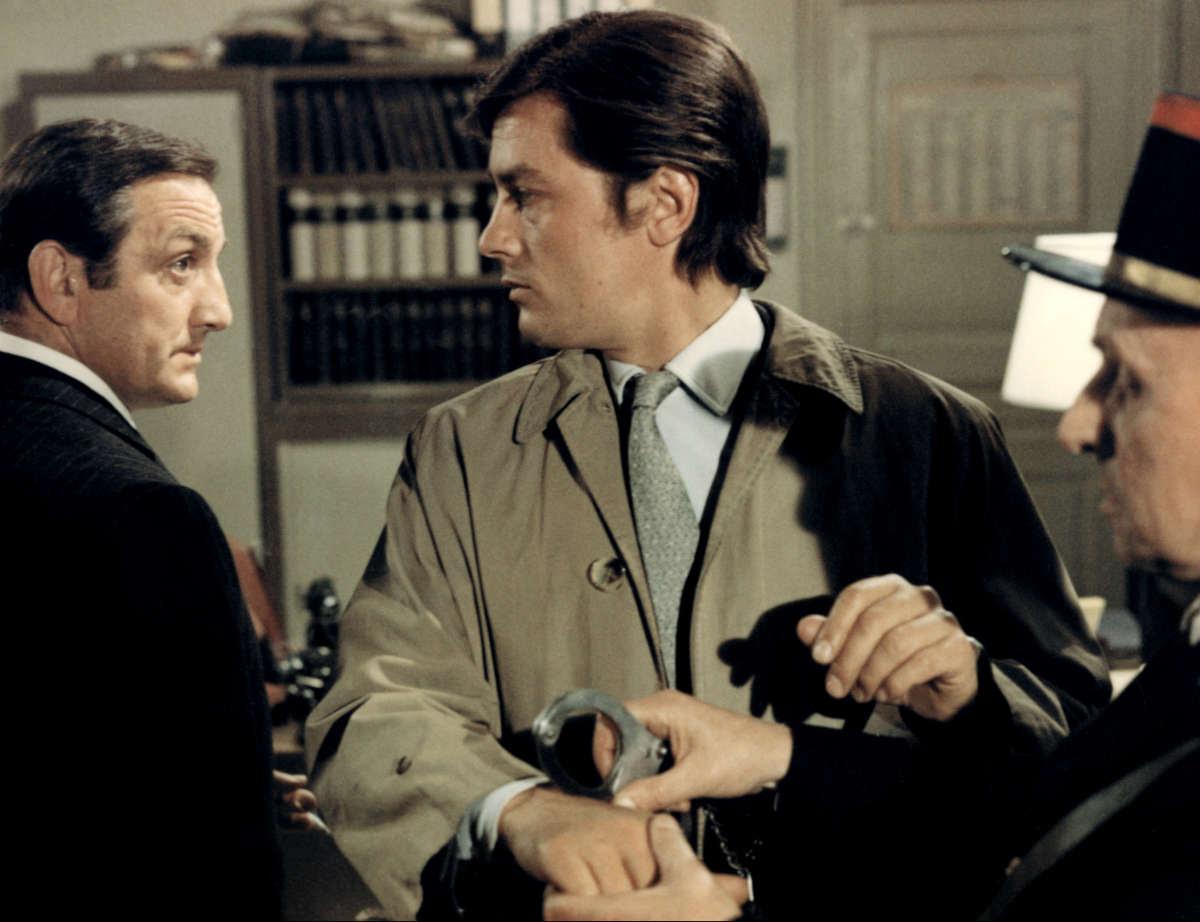 Lino Ventura et Alain Delon.
