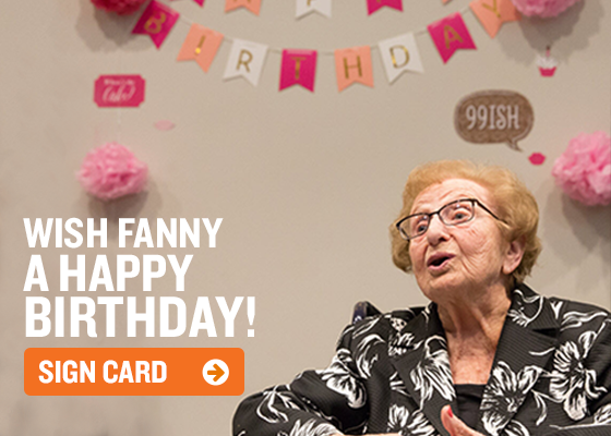 Wish Fanny A Happy Birthday! Sign The Card