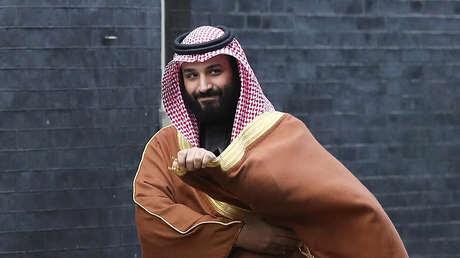 El príncipe heredero saudí Mohammed bin Salmán de visita en Londres, 7 de marzo de 2018