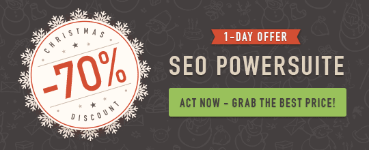 70% Off SEO PowerSuite One-day Offer