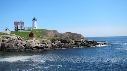 ocean view with lighthouse