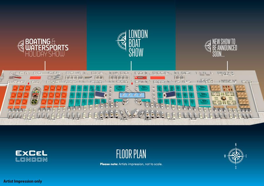 LONDON BOAT SHOW 2018 FLOOR PLAN