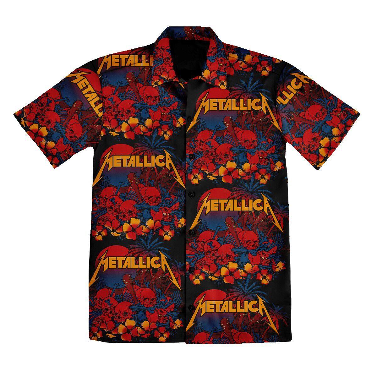Skull Sunset Hawaiian Shirt