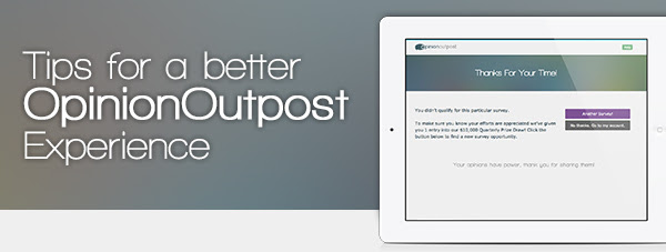 oo welcomeSeries headerIMG Tips for Success from Opinion Outpost