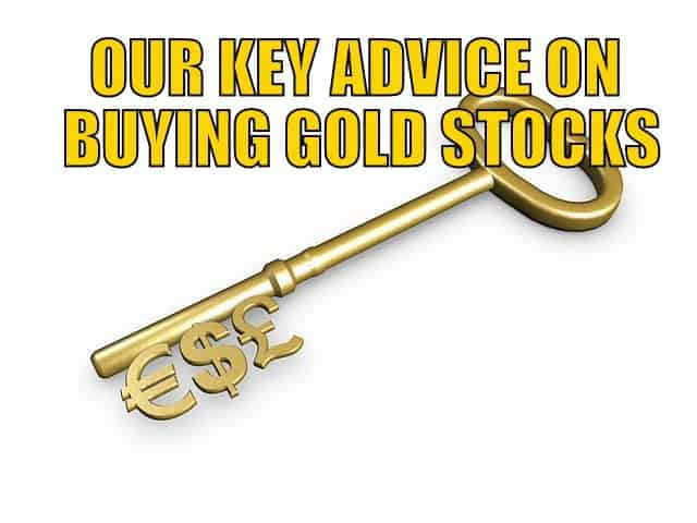 Key advice on buying gold stocks