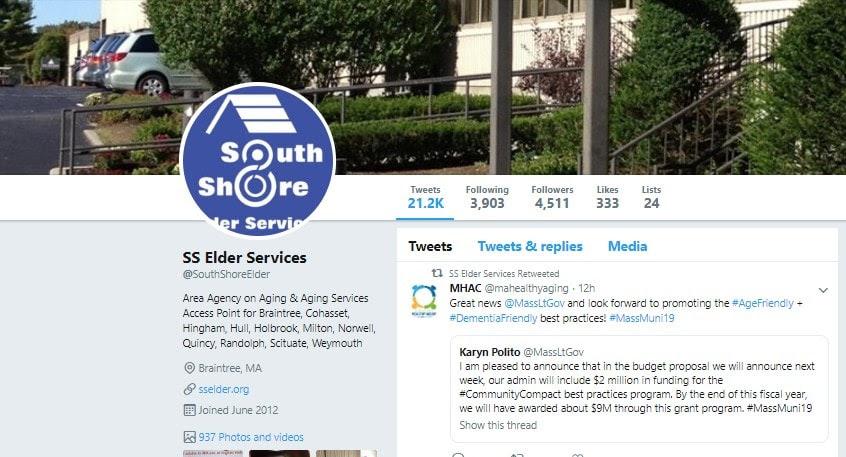 south shore elder care twitter