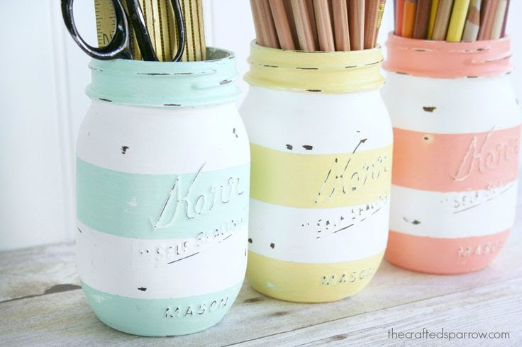 Striped jars