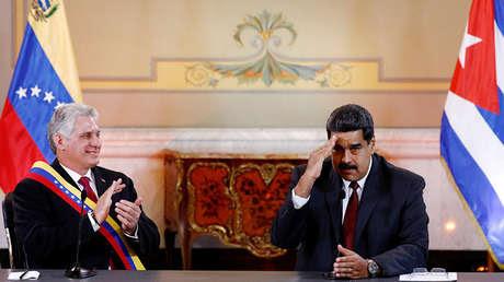 Maduro y Díaz-Canel reunidos en Caracas, Venezuela, 30 de mayo de 2018.