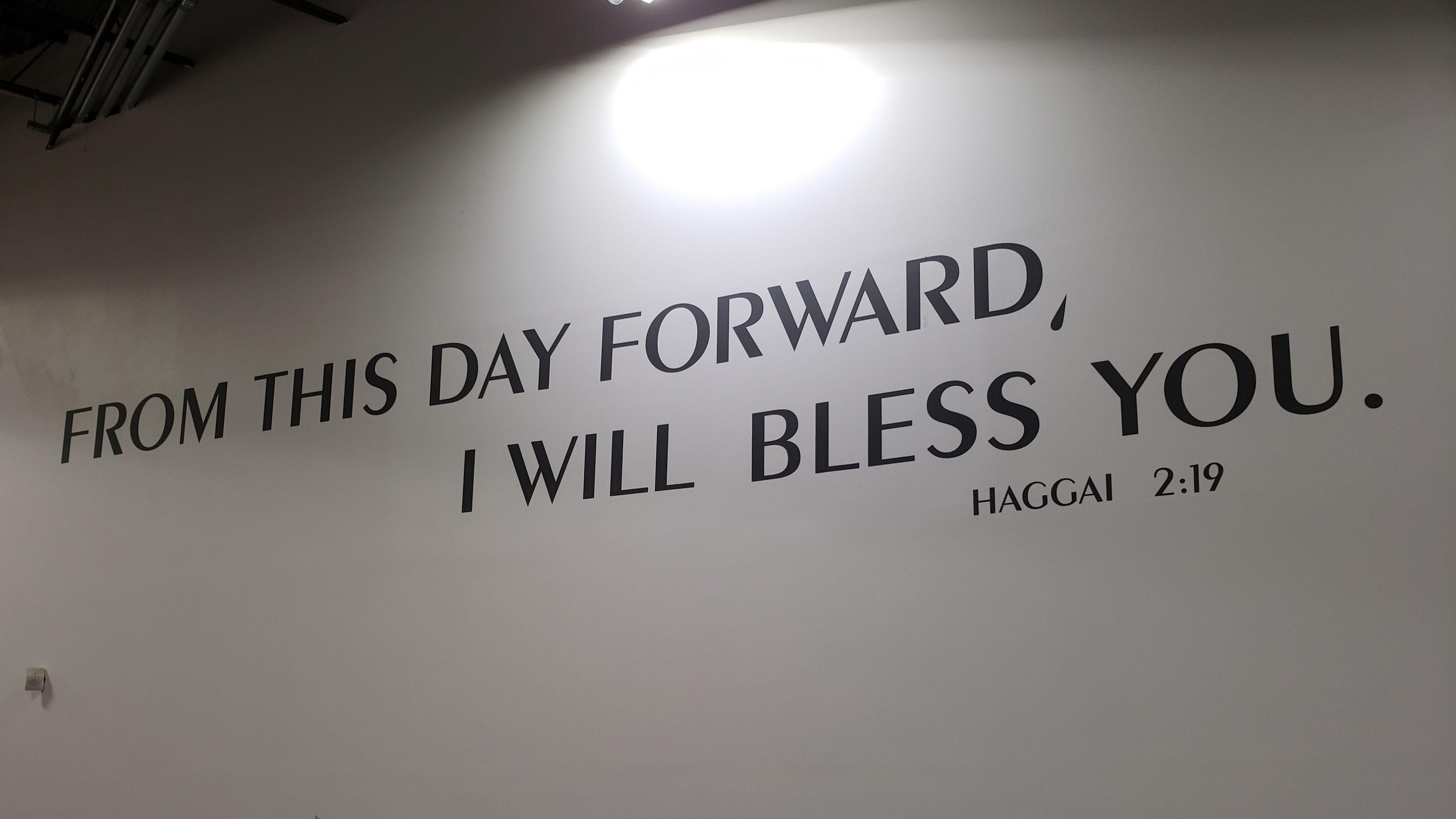 Haggai 2:19 wall