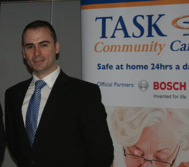 Mr. Ronan Bunting, Head of Operations at Ireland's longest established telecare company, TASK Community Care