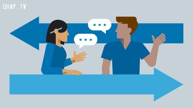 Đừng cho rằng đối phương có ý định xấu ,kỹ năng giao tiếp,quan điểm khác biệt,kỹ năng ứng xử