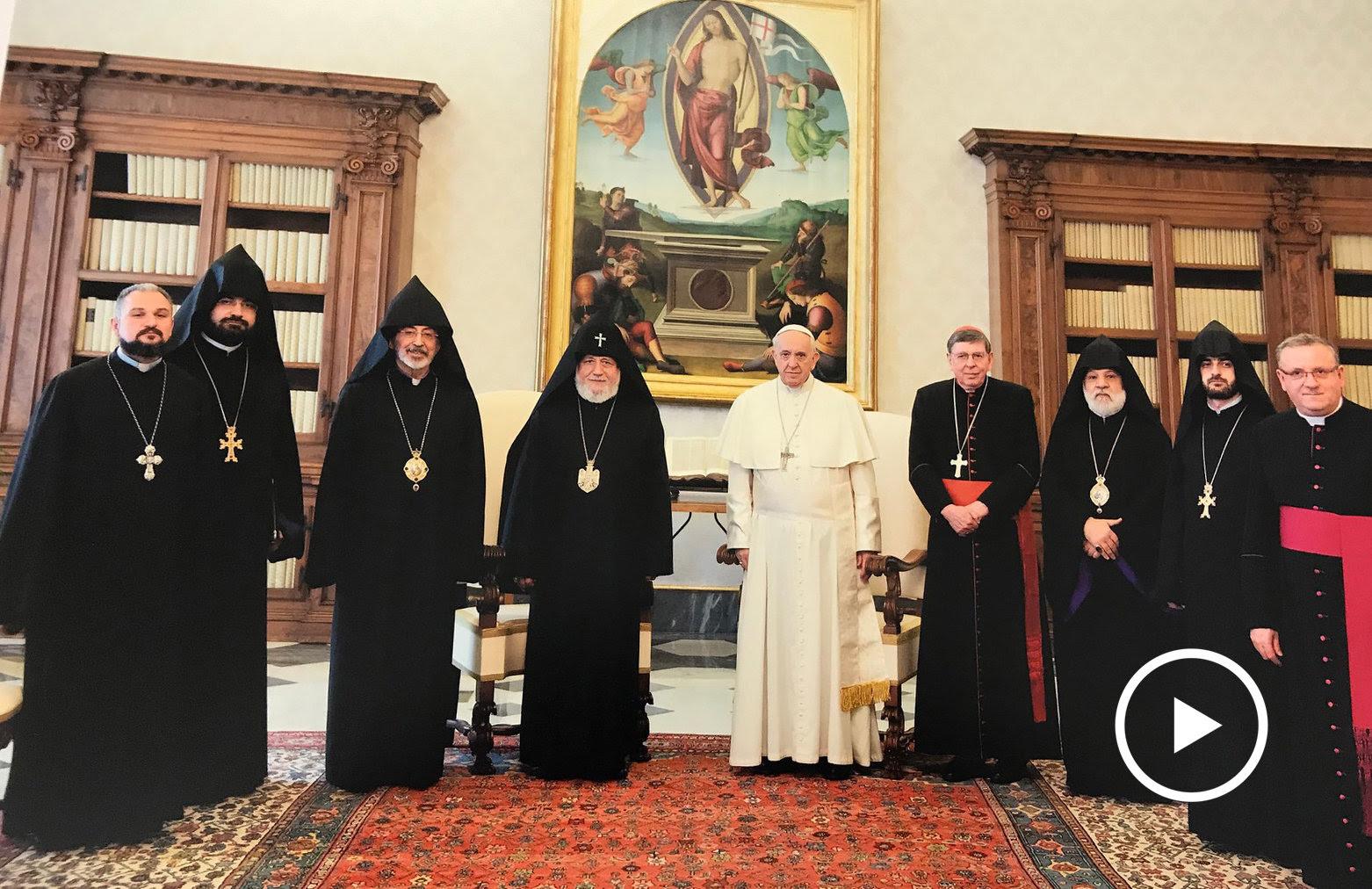 Karekin II in Vatican