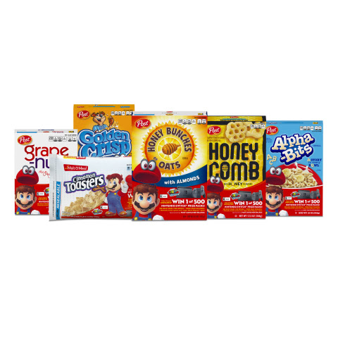 Nintendo and Post Consumer Brands Team Up for a 'Super' Cereal Promotion (Photo: Business Wire)
