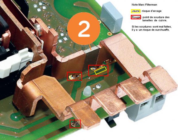 disjoncteur interne baco et lamelles de cuivre pour borniers et du compteur électrique Linky