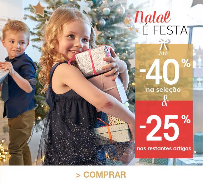Natal é festa até -40% na seleção & 25% nos restantes artigos > Comprar já com o código 2442