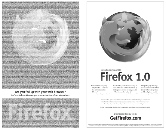 Firefox 1.0 New York Times Ad