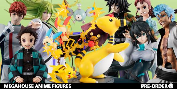 MegaHouse: Pokemon, Bleach, One Piece, Demon Slayer, Gundam