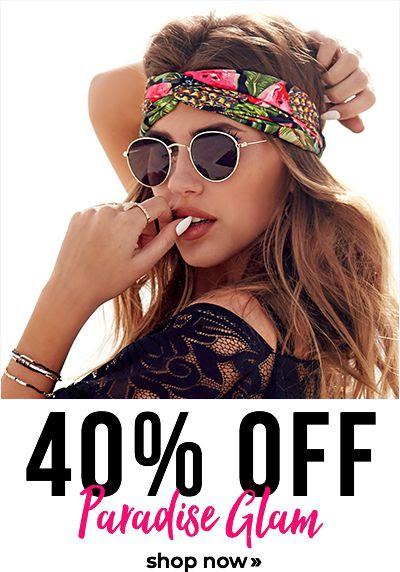 40% off paradise glam