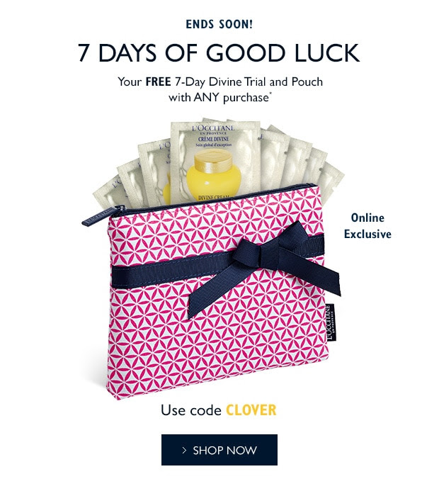 Receive a free 8-piece bonus gift with your L'Occitane purchase