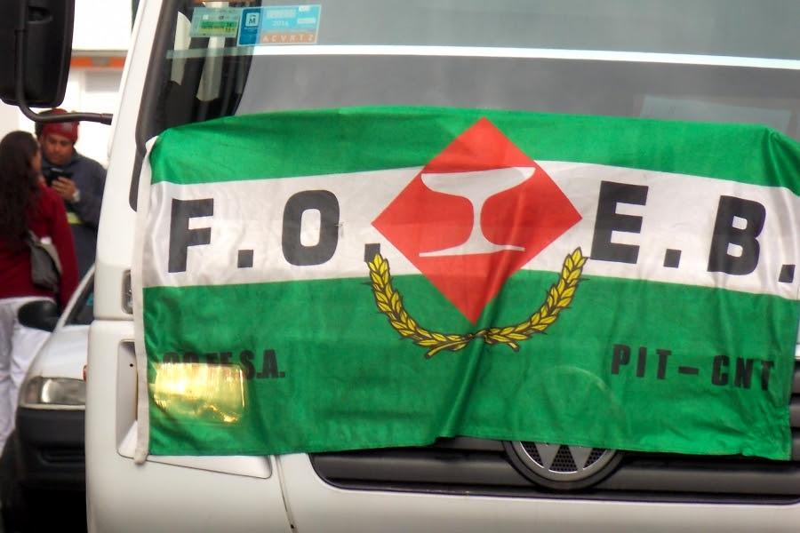Este jueves habrá paro y movilización de la FOEB