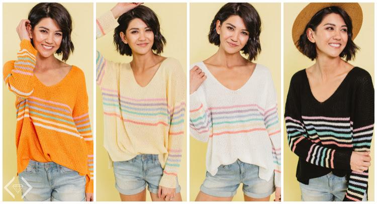 Spring Rainbow Sweater