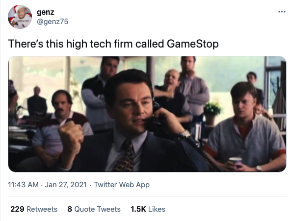 There's this high tech firm called GameStop